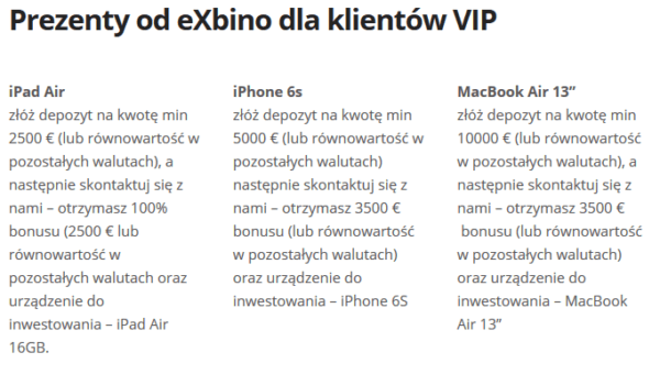 exbino iphone bonus