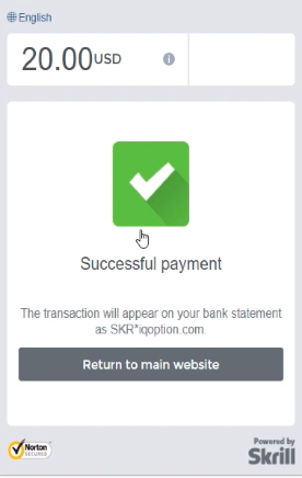 successful payment