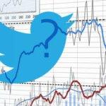twitter logo on a chart