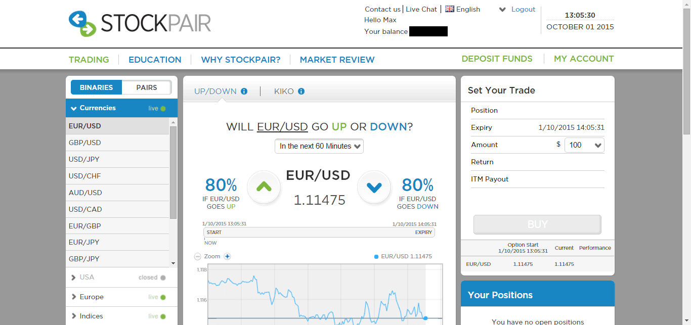 stockpair platforma